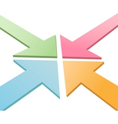 3d arrows vector image vector image