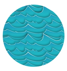 Background with Blue Waves vector image