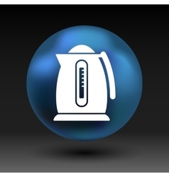 Electric kettle icon kitchen preparation vector
