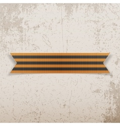 Victory day saint george black and gold ribbon vector