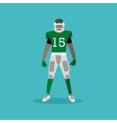 American football player with equipment sport vector