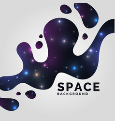 background the universe and vector image