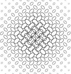 Black and white diagonal ellipse pattern vector image
