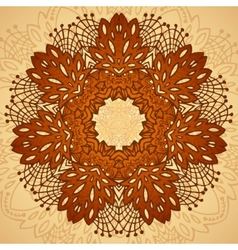 Chocolate flower seamless pattern vector