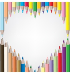 Coloured pencil set vector