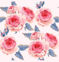 english roses seamless vector image vector image