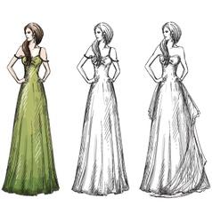 Fashion hand drawn vector