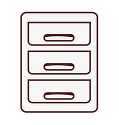 file cabinet icon vector image