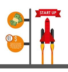 financial start up vector image