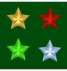 four Christmas stars of vector image