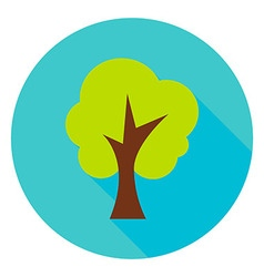 Garden tree circle icon vector