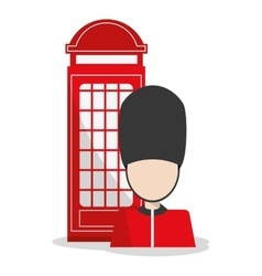 Isolated Telephone and soldat design vector image vector image