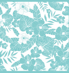 light blue drawing tropical summer hawaiian vector image vector image
