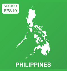 philippines map icon business concept philippines vector image