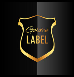 Premium golden badge label symbol design vector