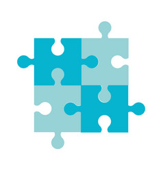 Puzzle jigsaw team piece icon vector