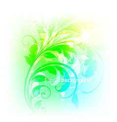 Soft floral background vector