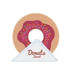sweet donut dessert vector image vector image