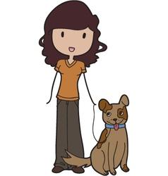veterinarian assistant vector image vector image
