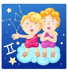 Zodiac signs - Gemini vector image vector image