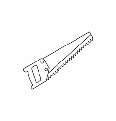 Hand saw tool icon outline style vector