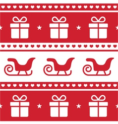 Christmas card seamless pattern vector