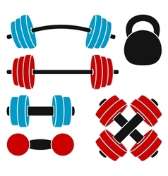 Athletic weights vector image