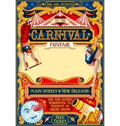 Circus Carnival vintage 2d AurielAki vector image