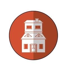 House suburban home brown circle shadow vector