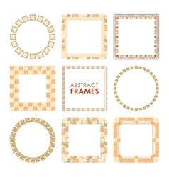 Ethnic frame set vector