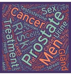 Risk factors for prostate cancer text background vector