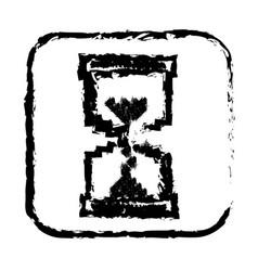 contour symbol hourglass icon vector image