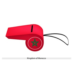 A whistle of the kingdom of morocco vector