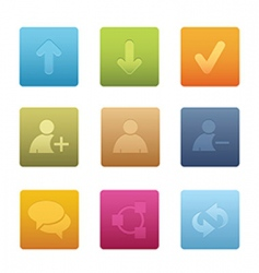 chat media icons  square vector image