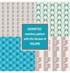 Set geometric seamless texture vector