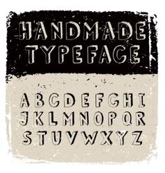 Handmade typeface vector