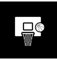 The basketball icon Game symbol Flat vector image