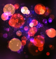 Magic lights bokeh blurred background vector