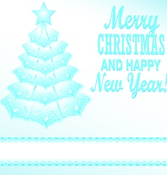 Blue christmas tree festive paper vector