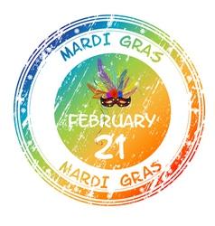 mardi gras grunge vector image