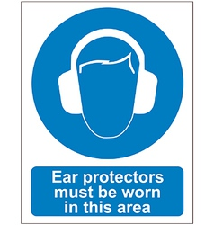 Ear protectors sign vector