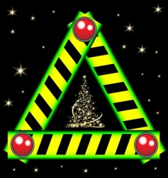 Christmas road sign vector image