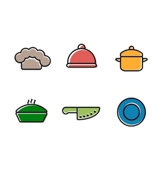 Kitchen restaurant and culinary icons vector