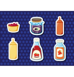 Stickers of foods vector