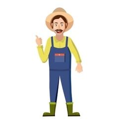 Farmer icon in cartoon style vector image