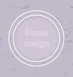 Abstract crack frame design vector