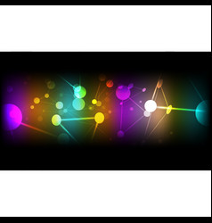 abstract technological colorful cell background vector image vector image