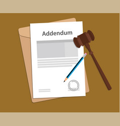 addendum stamped letter with judge vector image vector image