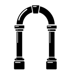 Archway concrete icon simple black style vector