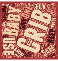 Baby cribs safety better safe than sorry text vector
